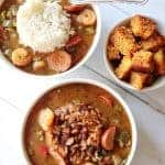 Double-Roux Shrimp and Sausage Gumbo