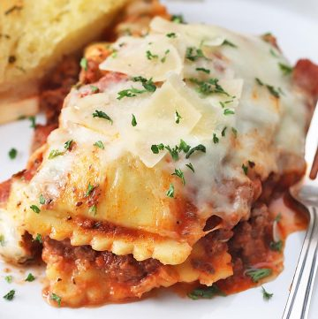 Four-Cheese Ravioli Lasagna