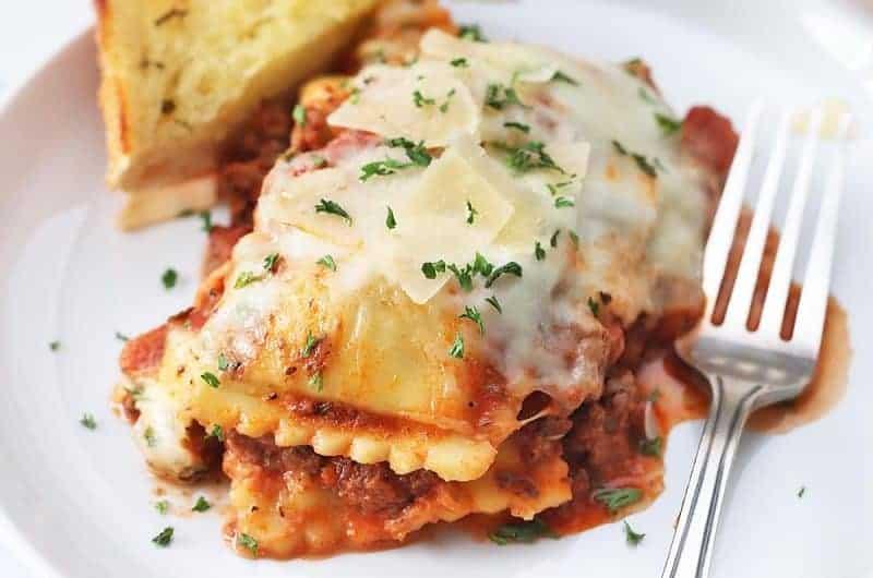 Four Cheese Ravioli Lasagna