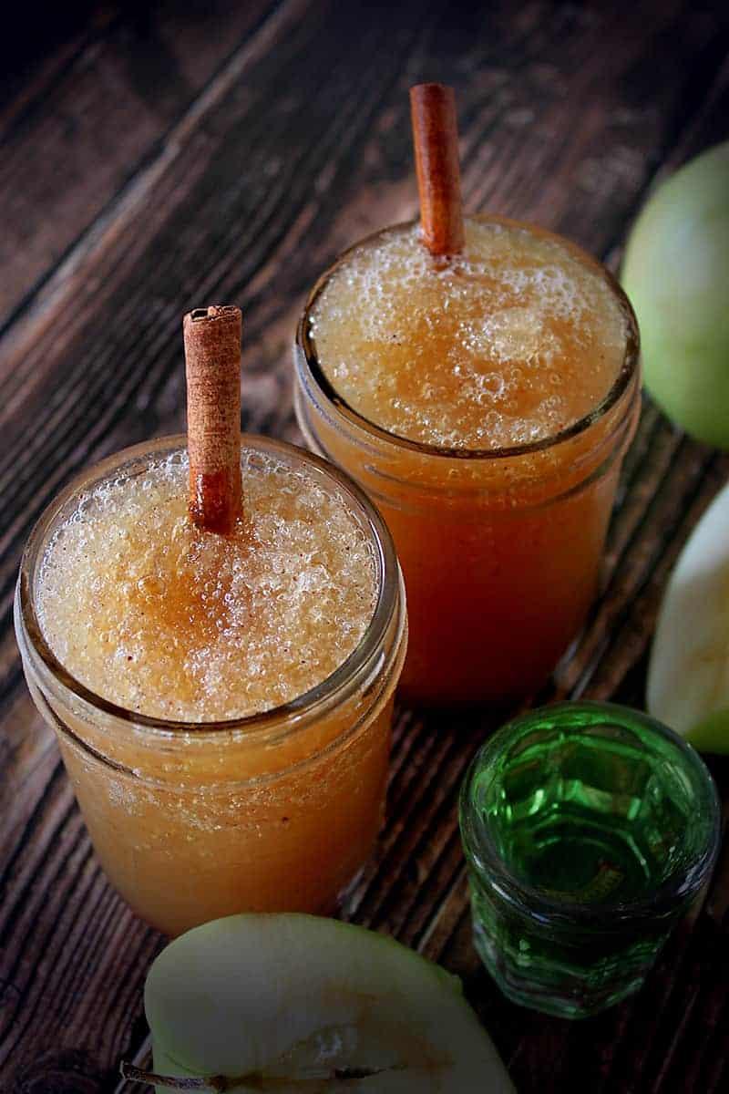 Boozy Apple Slushies