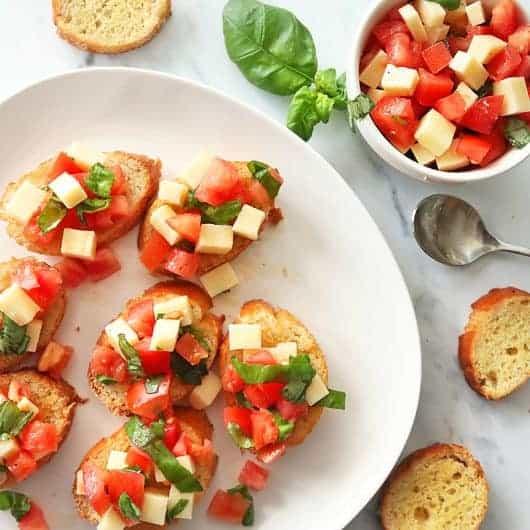 Bruschetta with Tomato & Basil