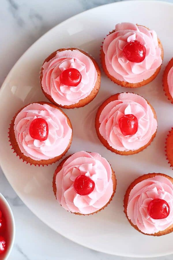 The Best Cherry Chip Cupcakes