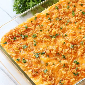 Cheesy Potato Hash Browns without Canned Soup