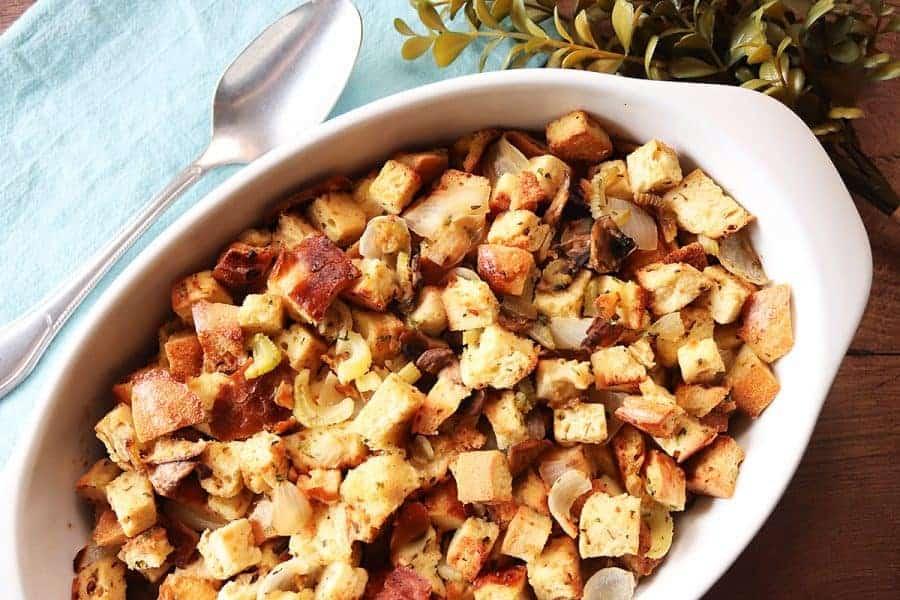 Garlic Bread Stuffing