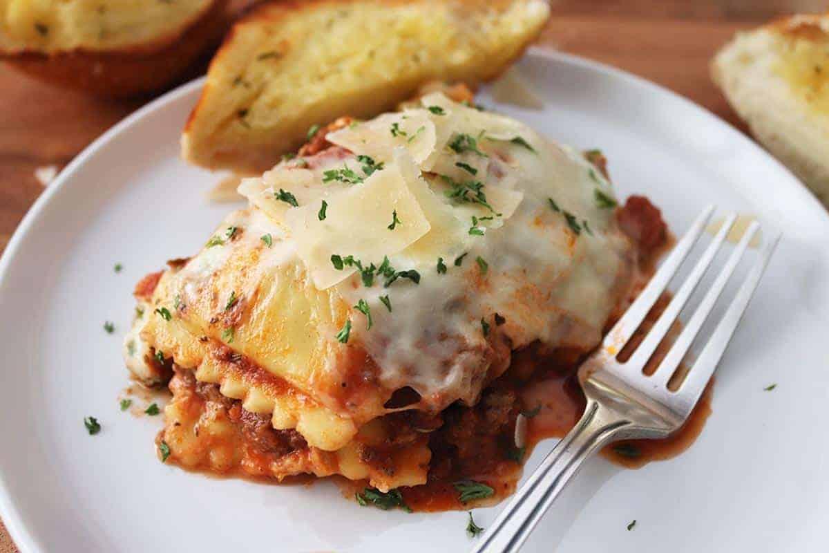 Four-Cheese Ravioli Lasagna