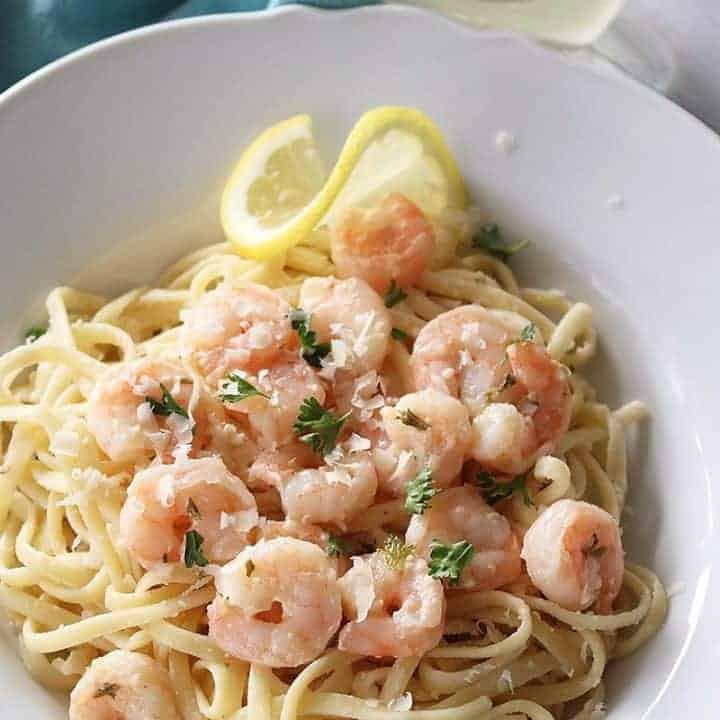 Shrimp in Garlic Wine Sauce