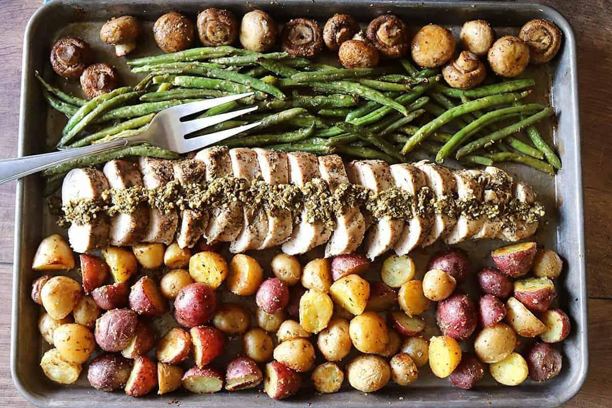 Sheet Pan Italian Pork Tenderloin and Vegetables