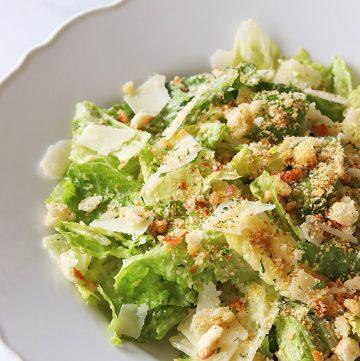 Breadcrumb Caesar Salad