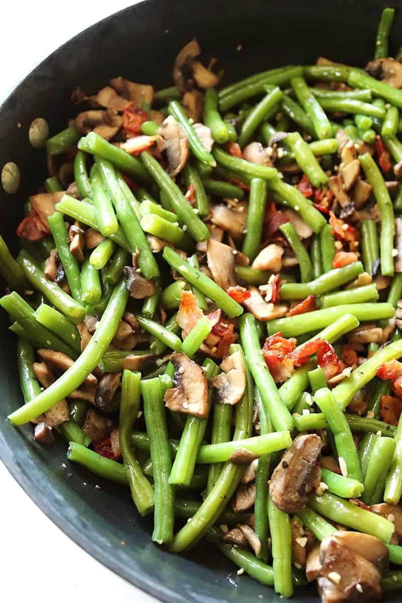 Bacon Mushroom Green Beans