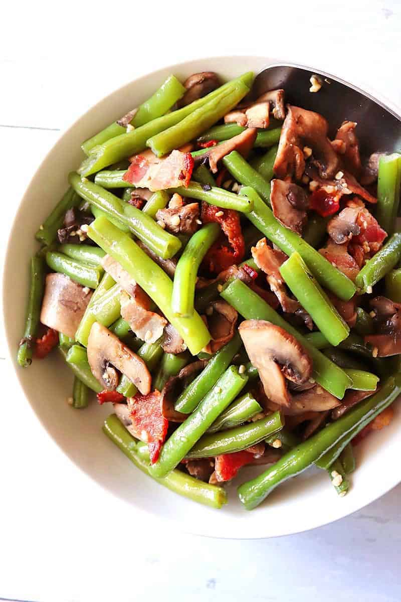 Bacon, Mushrooms, and Green Beans