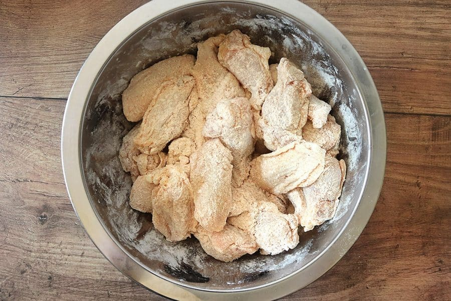 Raw chicken batter