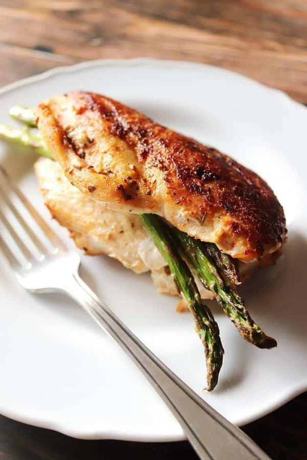 Asparagus Wrapped Chicken