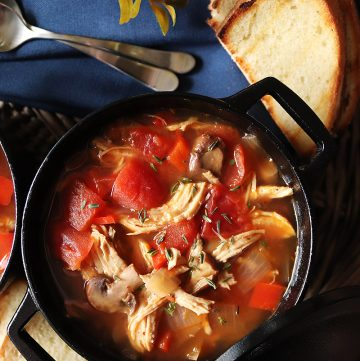 Instant Pot Chicken Cacciatore Chili