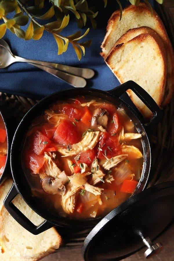 Instant Pot Chicken Cacciatore Chili