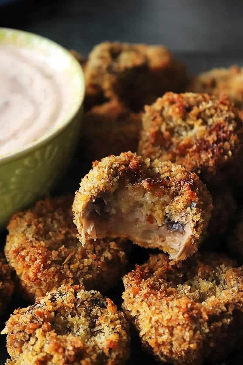 Air Fryer Fried Mushrooms