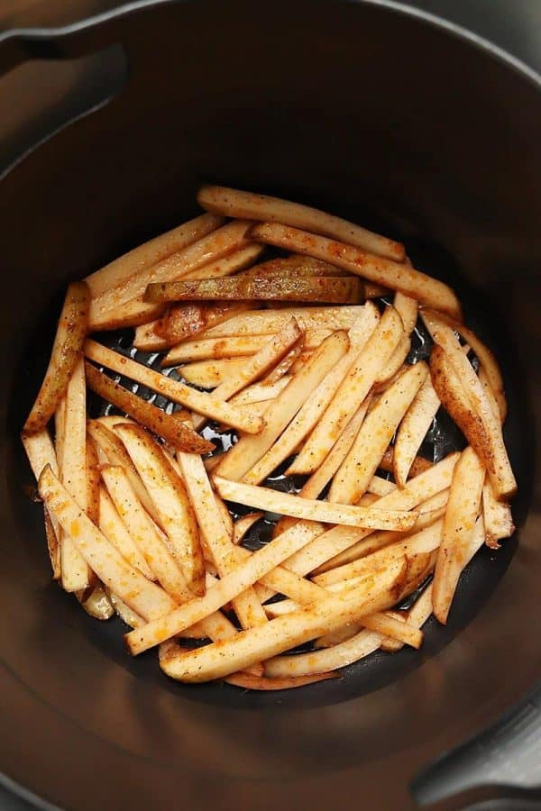 Basket of uncooked fries