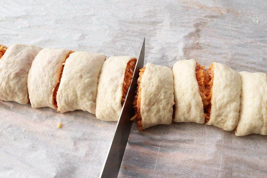 Pepperoni & Cheese Pizza Roll-Ups