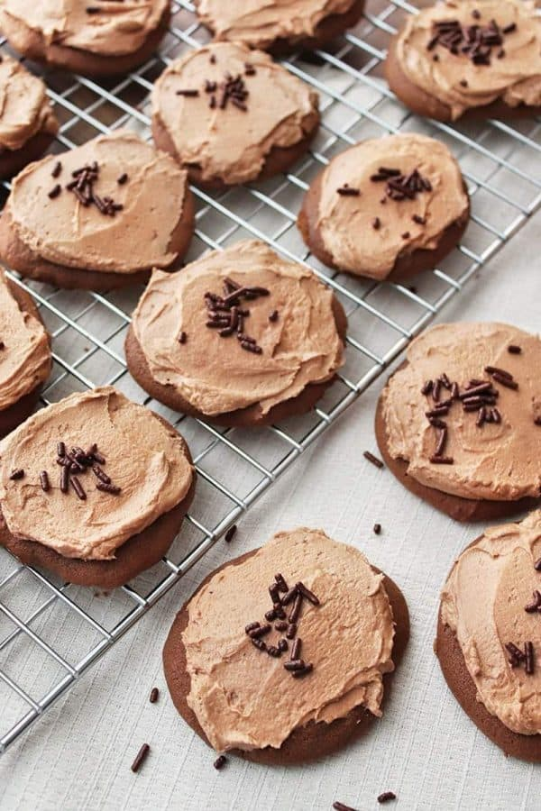 Chocolate Drop Cookies with Chocolate Frosting