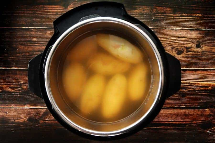 Instant Pot with Whole Potatoes and chicken broth