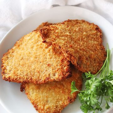 Air Fryer Pork Schnitzel