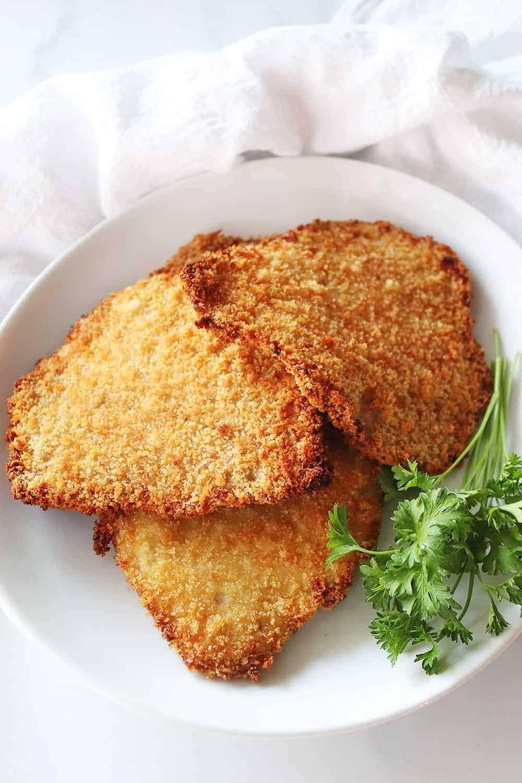 Air Fryer Pork Schnitzel