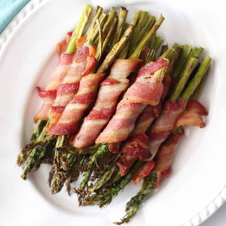Air Fryer Bacon-Wrapped Asparagus