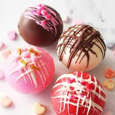 Valentine Hot Chocolate Bombs