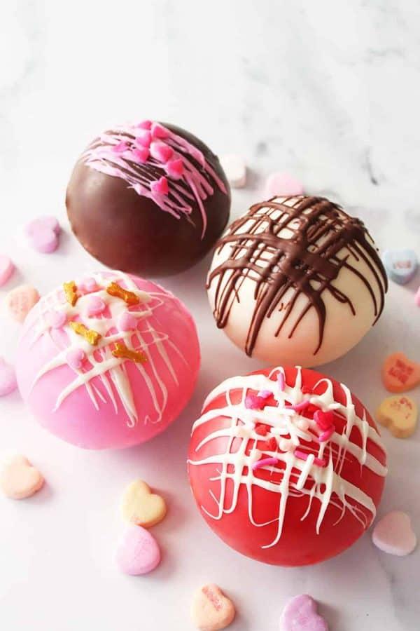 Valentine's Hot Chocolate Bombs