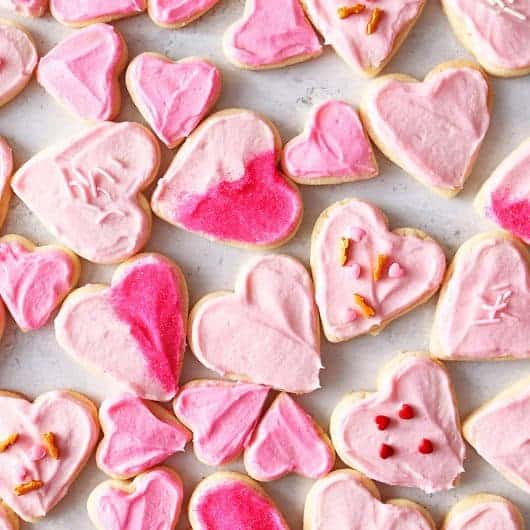 Eggless Valentine's Day Cookies