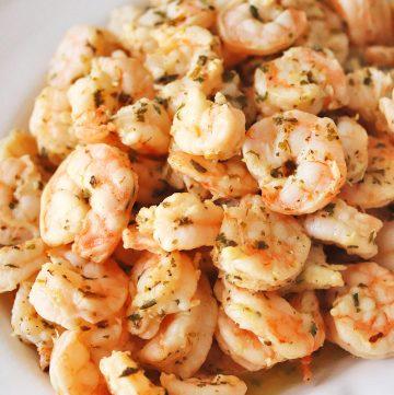 Oven-Baked Zesty Italian Shrimp