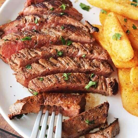 Cast-Iron Skillet Flank Steak
