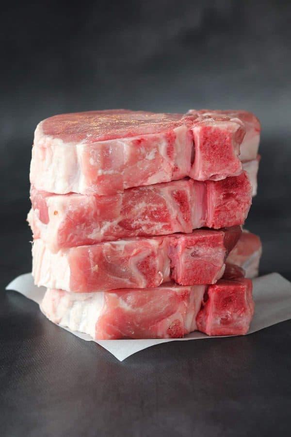 Raw Thick Iowa Chops