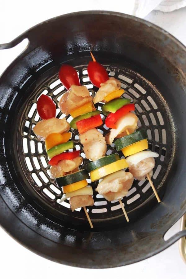 Air Fryer Olive Garden Chicken Kabobs