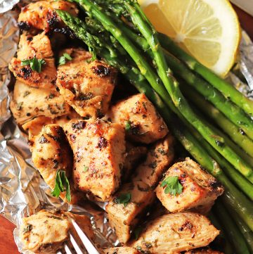 Grilled Chicken and Asparagus Foil Packs