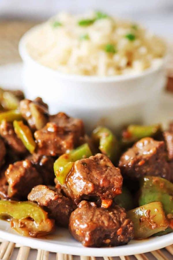 Air Fryer Pepper Steak
