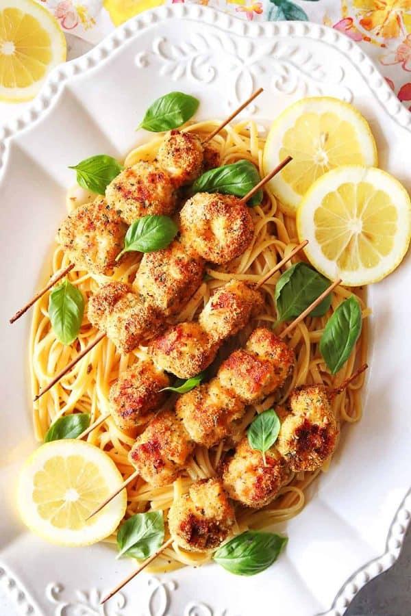 Air Fryer Chicken Spiedini
