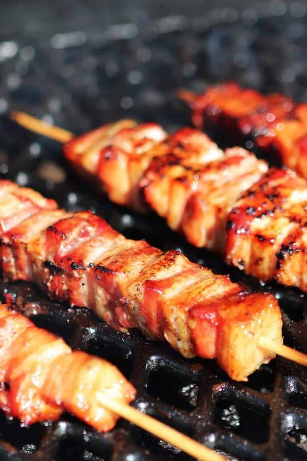 BBQ Smoked Pork Belly Kabobs