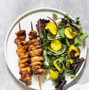 Thai Curry Air Fryer Chicken Kabobs