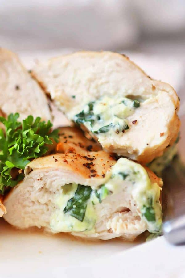 Air Fryer Feta and Spinach Stuffed Chicken Breast