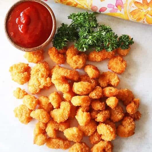 Air Fryer Frozen Popcorn Shrimp