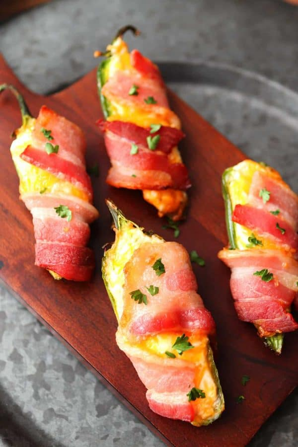 Air Fryer Bacon-Wrapped Jalapeño Poppers